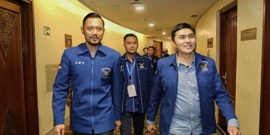 Herzaky Mahendra Putra bersama Ketua Umum Partai Demokrat Agus Harimurti Yudhoyono